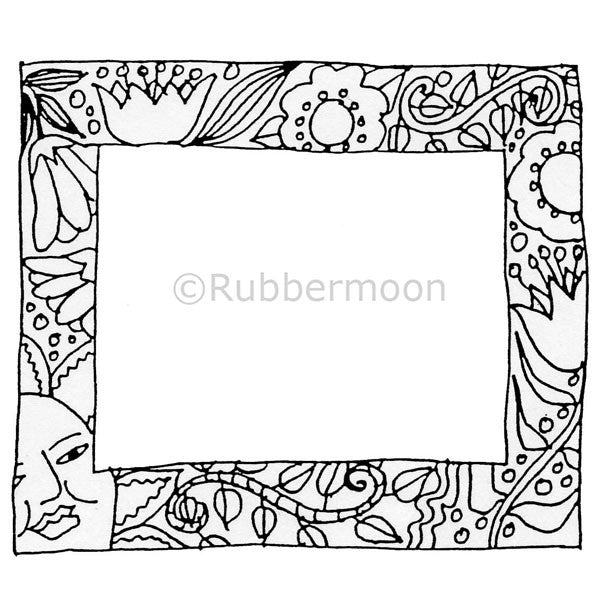 Marylinn Kelly | MK2071K - Sun & Flower Frame - Rubber Art Stamp