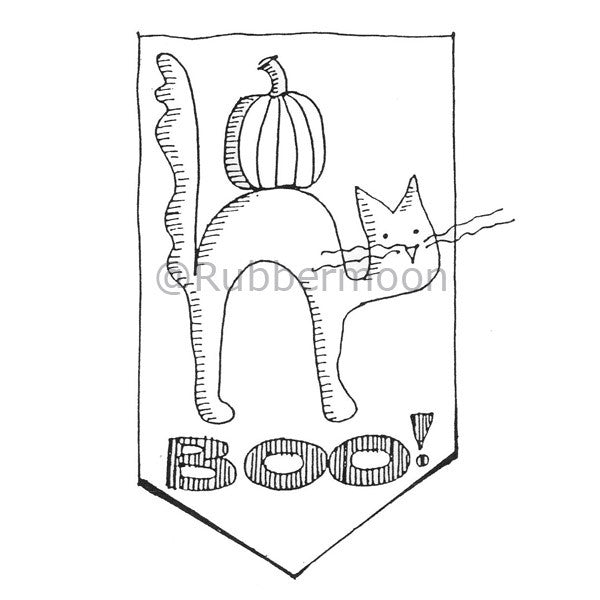 Marylinn Kelly | MK2117J - Boo! - Rubber Art Stamp