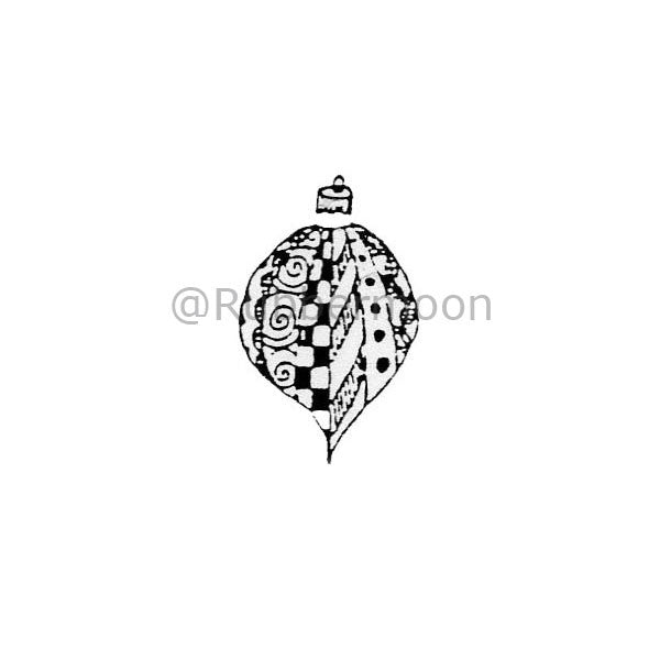 Marylinn Kelly | MK264A - Spiral Ornament - Rubber Art Stamp