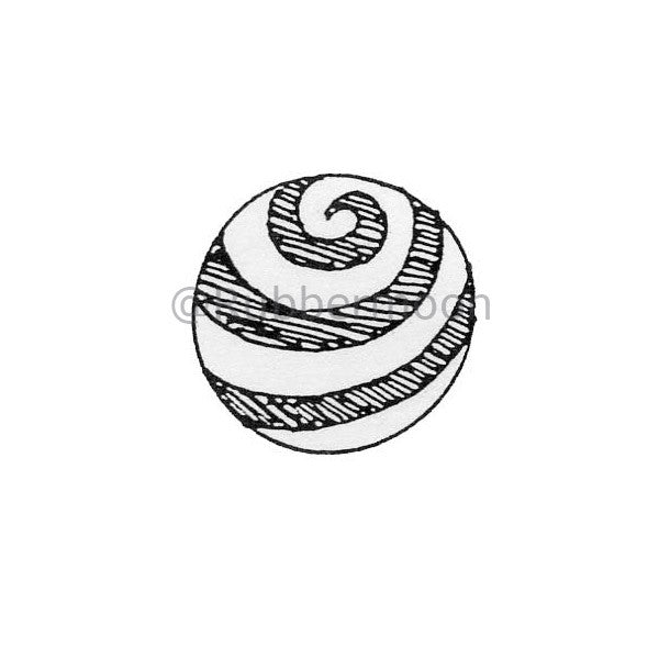 Marylinn Kelly | MK265B - Swirl Marble - Rubber Art Stamp