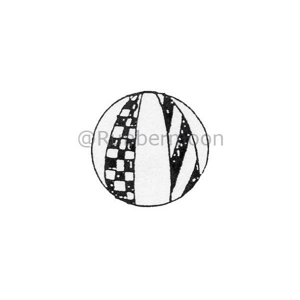 Marylinn Kelly | MK267B - Checker Marble - Rubber Art Stamp