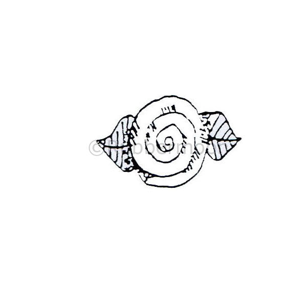 Marylinn Kelly | MK268B - Spiral Flower - Rubber Art Stamp