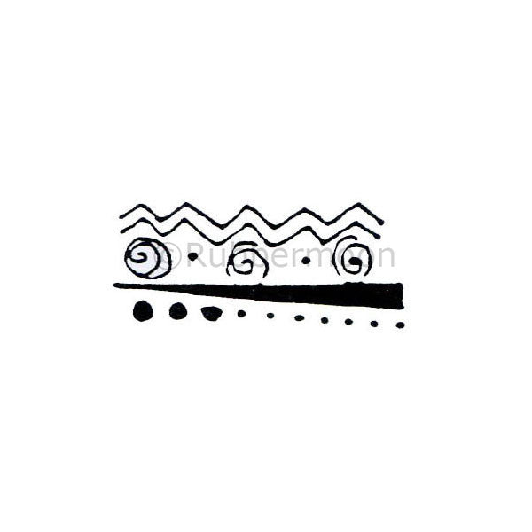 Marylinn Kelly | MK271B - Abstract Mountains Border (small) - Rubber Art Stamp