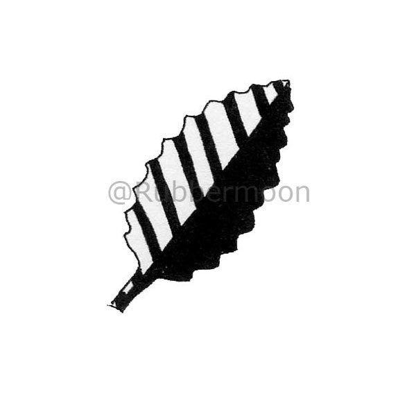 Marylinn Kelly | MK2733C - Striped Leaf - Rubber Art Stamp