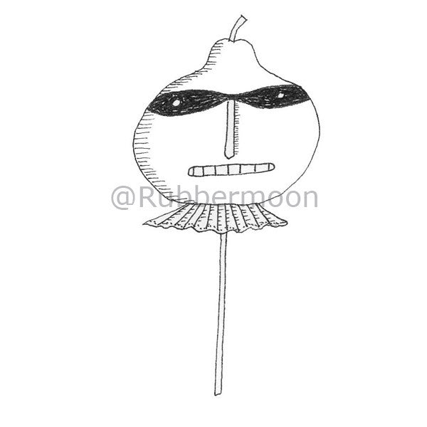 Marylinn Kelly | MK2742G - Masked Stick Man - Rubber Art Stamp