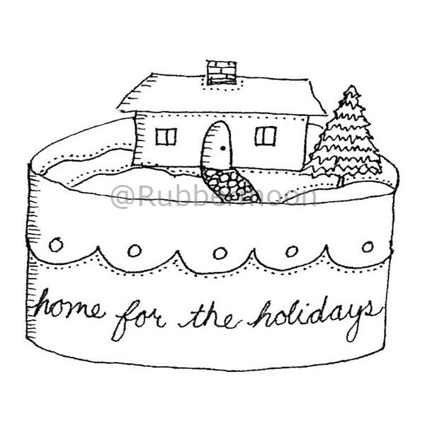 Marylinn Kelly | MK2744H - Home for the Holidays - Rubber Art Stamp