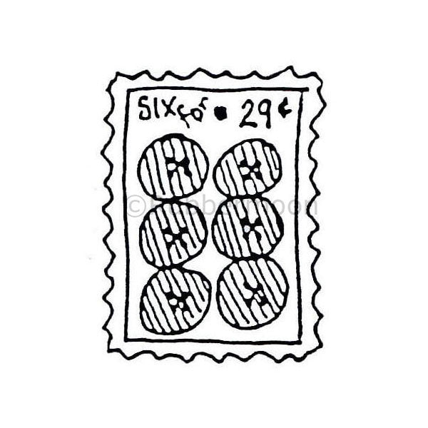 Marylinn Kelly | MK285C - Six for 29 Cents - Rubber Art Stamp