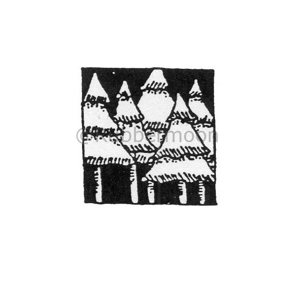 Marylinn Kelly | MK295C - Winter Night - Rubber Art Stamp