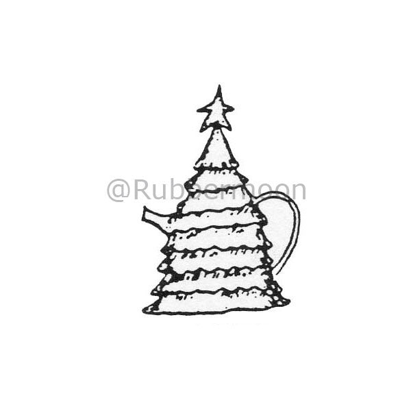 Marylinn Kelly | MK297B - Xmas Treepot - Rubber Art Stamp