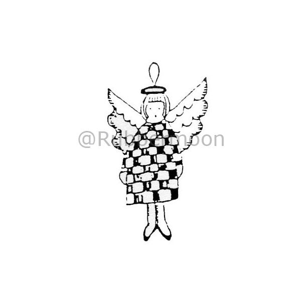 Marylinn Kelly | MK354C - Angel Ornament - Rubber Art Stamp