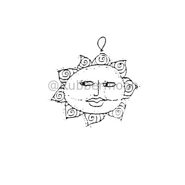 Marylinn Kelly | MK357C - Sun Ornament - Rubber Art Stamp