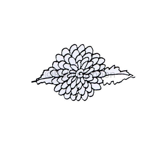 Marylinn Kelly | MK360B - Multifaceted Flower - Rubber Art Stamp