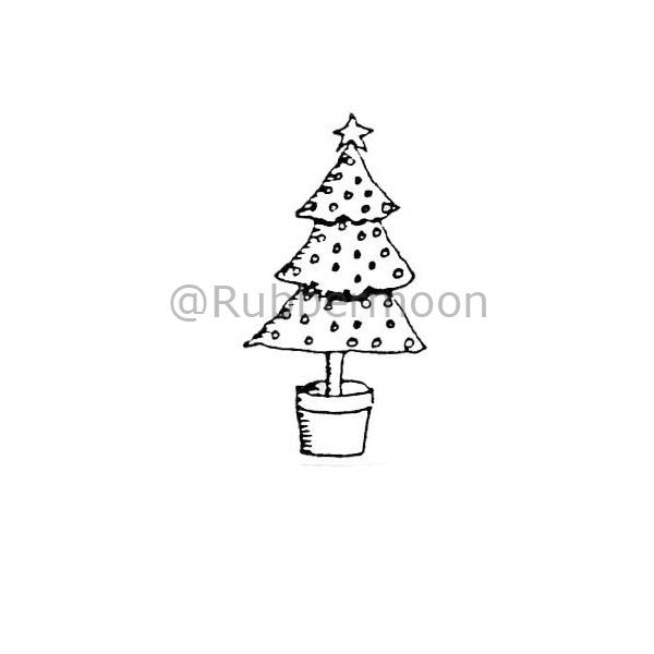 Marylinn Kelly | MK363C - Small Xmas Tree - Rubber Art Stamp