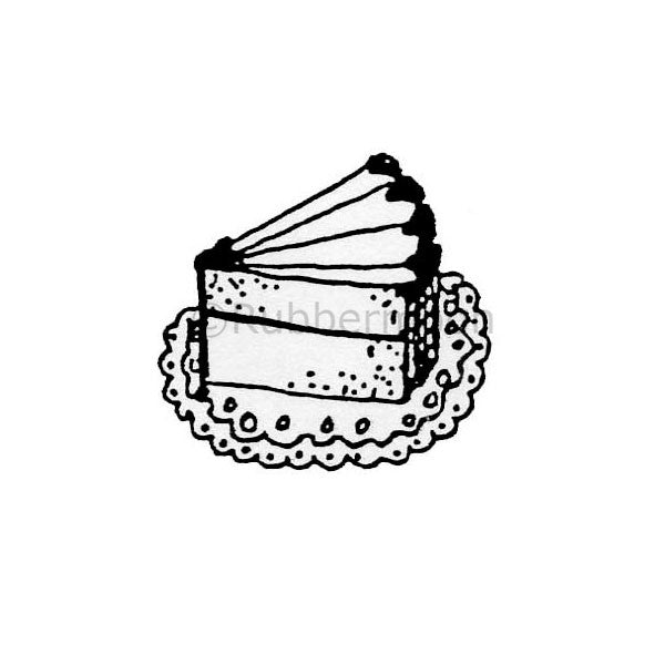 Marylinn Kelly | MK366B - Slice of Cake - Rubber Art Stamp