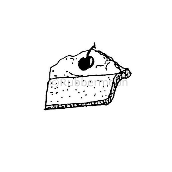 Marylinn Kelly | MK367B - Slice of Pie - Rubber Art Stamp