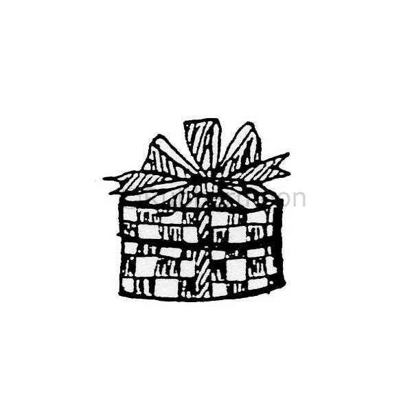 Marylinn Kelly | MK368C - Small Round Present - Rubber Art Stamp