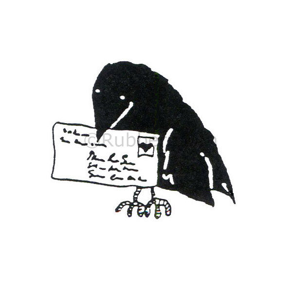 Marylinn Kelly | MK379C - Crow Mail - Rubber Art Stamp