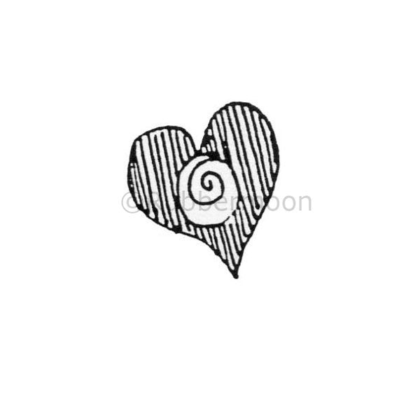 Heart w/Swirl - MK382C - Rubber Art Stamp