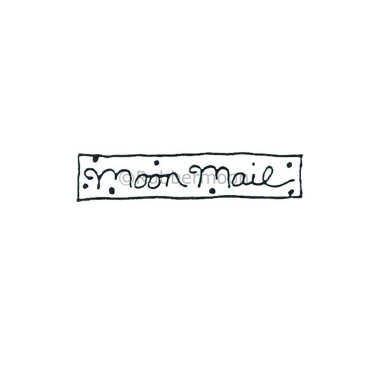 Marylinn Kelly | MK384C - Moon Mail - Rubber Art Stamp
