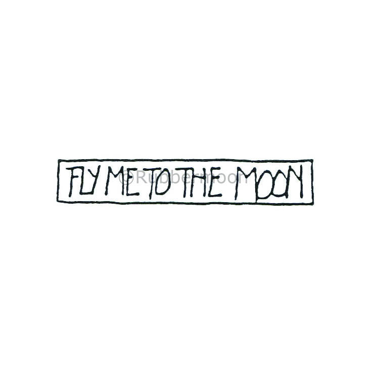 Marylinn Kelly | MK385C - Fly Me To The Moon - Rubber Art Stamp