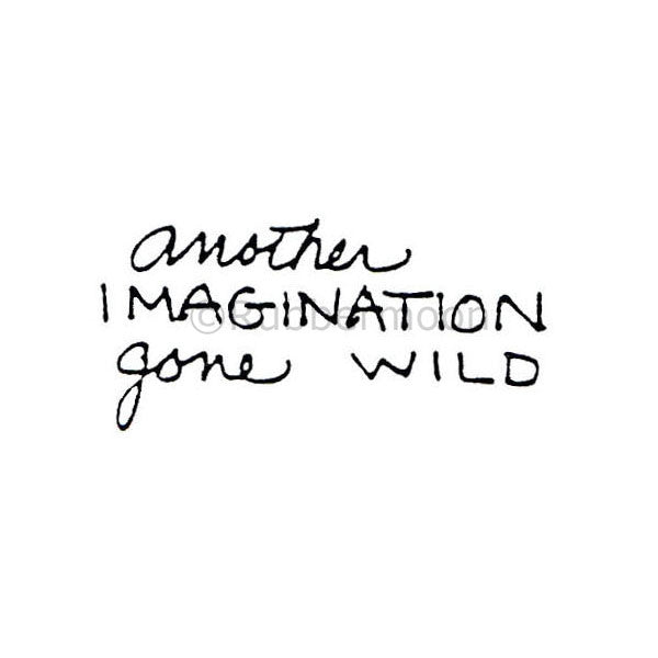 "Marylinn Kelly | MK395C - ""Imagination Gone Wild"" - Rubber Art Stamp"