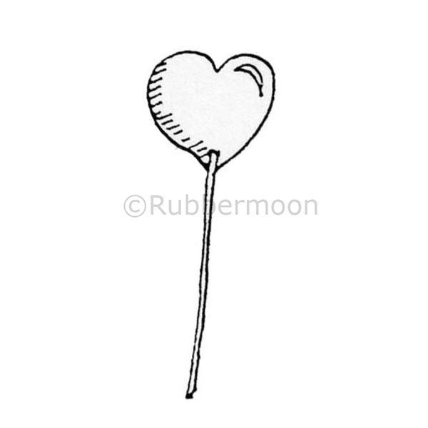 Marylinn Kelly | MK4012D - Heart Wand - Rubber Art Stamp