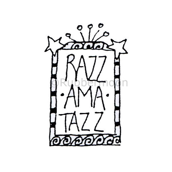 Marylinn Kelly | MK4013D - Razzamatazz - Rubber Art Stamp