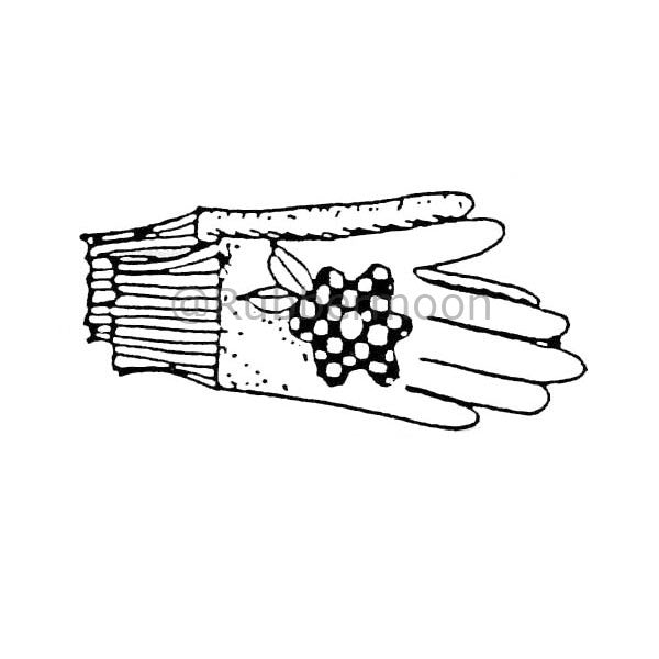 Marylinn Kelly | MK4015D - Gardening Gloves - Rubber Art Stamp