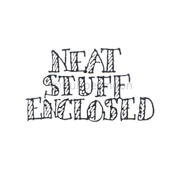 Marylinn Kelly | MK466D - Neat Stuff Enclosed - Rubber Art Stamp