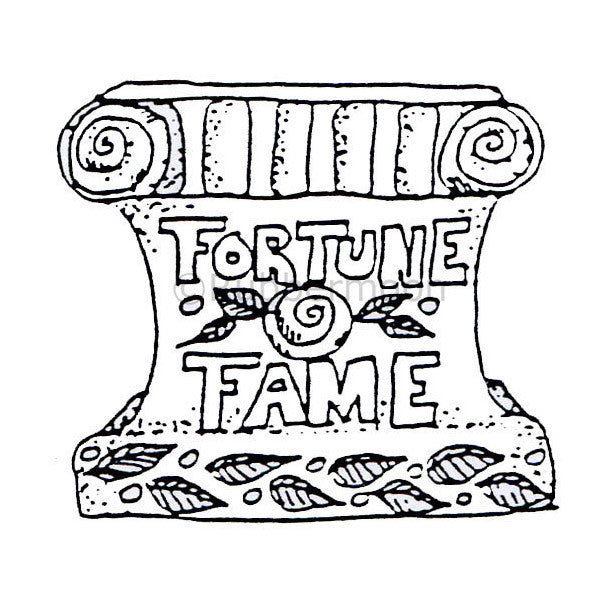 Marylinn Kelly | MK474F - Fortune & Fame - Rubber Art Stamp