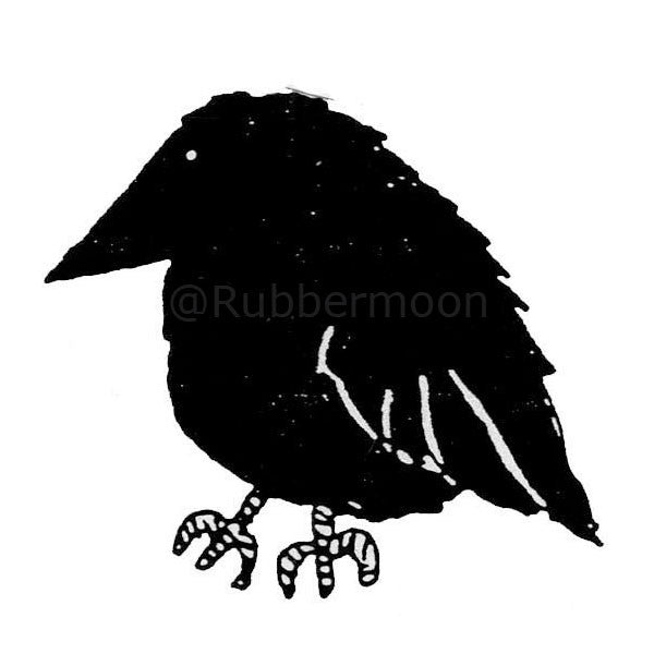 Marylinn Kelly | MK481E - Chubby Crow (large) - Rubber Art Stamp