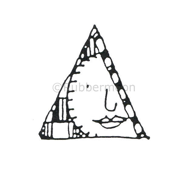 Marylinn Kelly | MK484D - Moon in a Triangle - Rubber Art Stamp