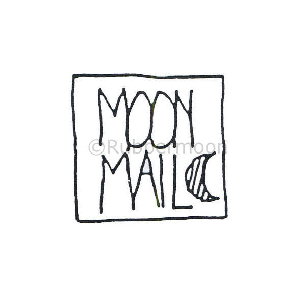 Marylinn Kelly | MK485D - Moon Mail #2 - Rubber Art Stamp