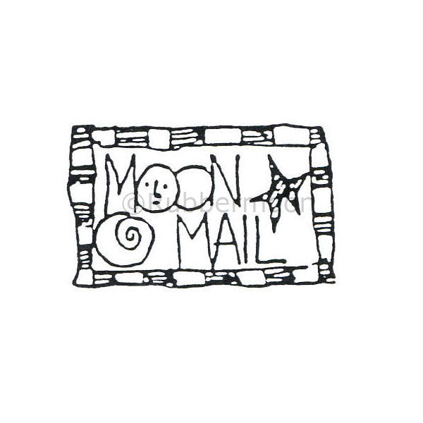 Marylinn Kelly | MK486D - Moon Mail #1 - Rubber Art Stamp