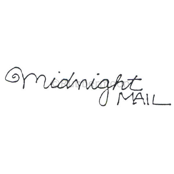 Marylinn Kelly | MK488D - Midnight Mail - Rubber Art Stamp