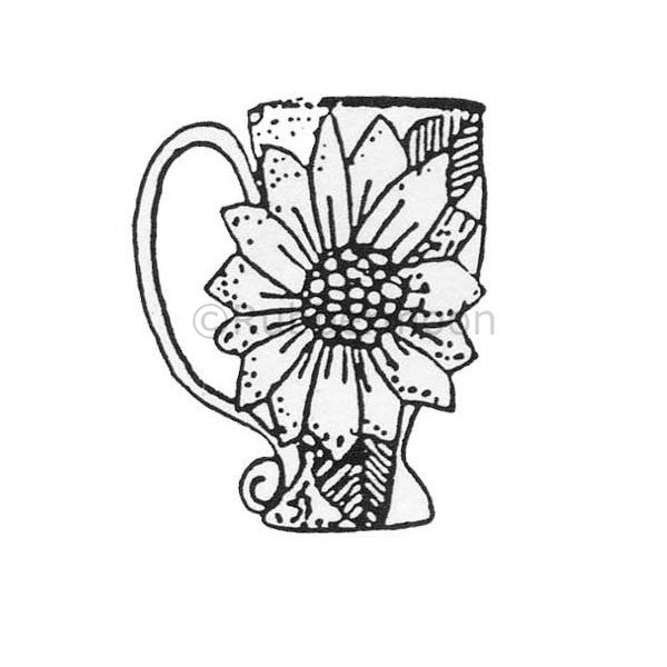 Marylinn Kelly | MK492D - Sunflower Teacup - Rubber Art Stamp