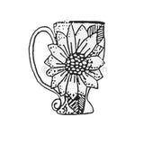 sunflower teacup