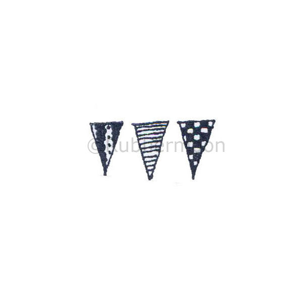 Marylinn Kelly | MK5051B - Bunting (small) - Rubber Art Stamp