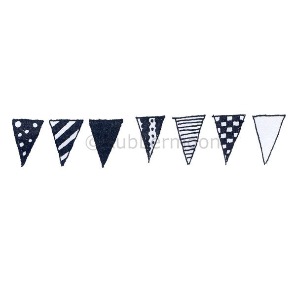 Marylinn Kelly | MK5052I - Bunting (large) - Rubber Art Stamp