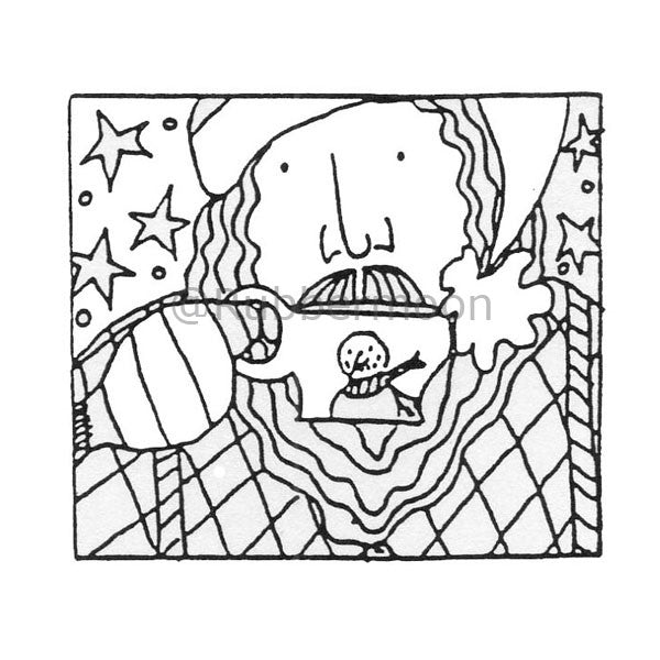 Here's Looking At You Kid - MK572F - Rubber Art Stamp