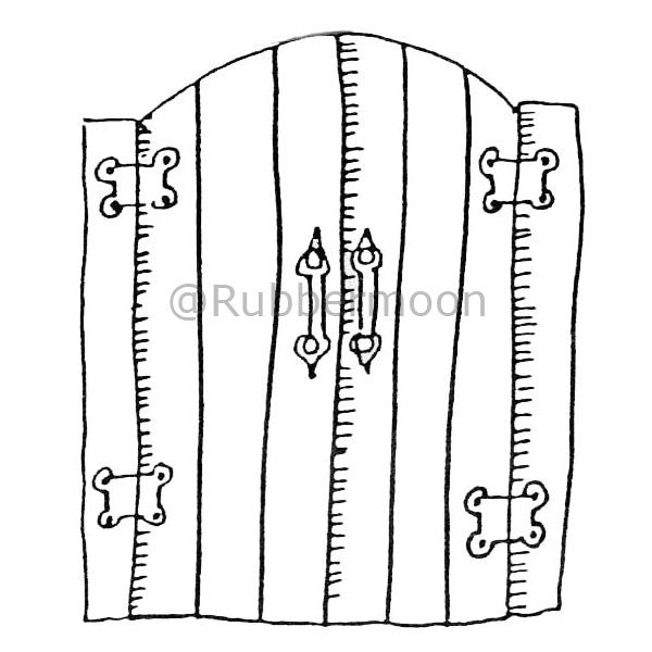 Marylinn Kelly | MK593E - Garden Gate - Rubber Art Stamp