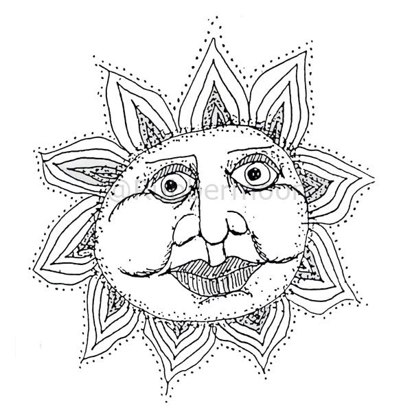 Large Sun Kissed - MK870M - Rubber Art Stamp