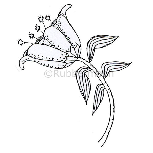Marylinn Kelly | MK877J - Fantasy Flower - Rubber Art Stamp