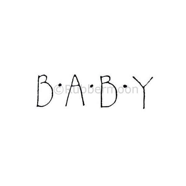 "Marylinn Kelly | MK9115C - ""Baby"" - Rubber Art Stamp"