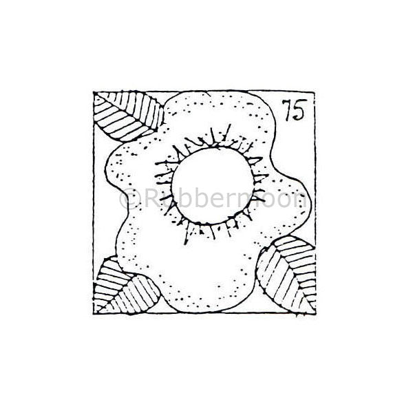 Marylinn Kelly | MK9121C - Flower Postage Stamp - Rubber Art Stamp