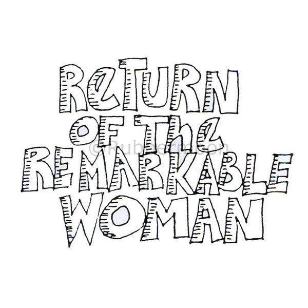 Marylinn Kelly | MK9194F - Remarkable Woman - Rubber Art Stamp