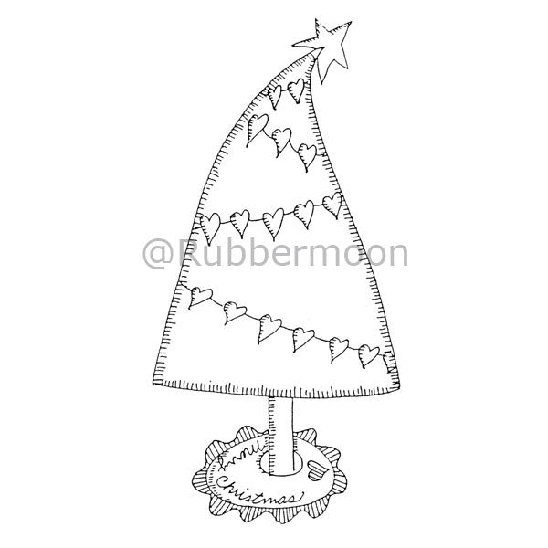 Marylinn Kelly | MK971K - Heart Xmas Tree - Rubber Art Stamp