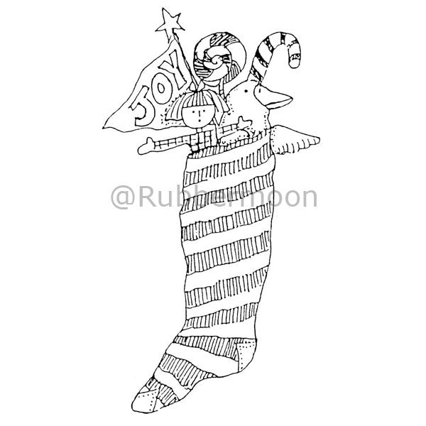 Marylinn Kelly | MK972K - Joy Stocking - Rubber Art Stamp