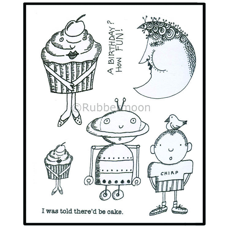 Marylinn Kelly | MKQ6 - Birthday (unmounted sheet only) - Rubber Art Stamps