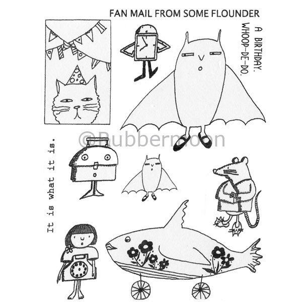Marylinn Kelly | MKQ2 - Birthday Friends (unmounted sheet only) - Rubber Art Stamps